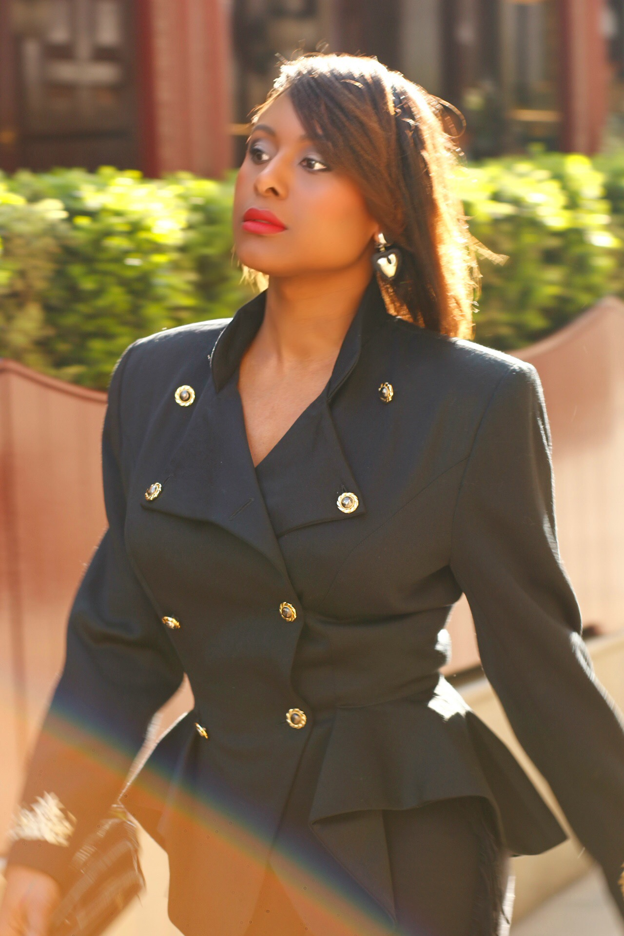 Black Military Peplum